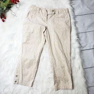LOFT Womens Khaki Beige Original Crop Pants